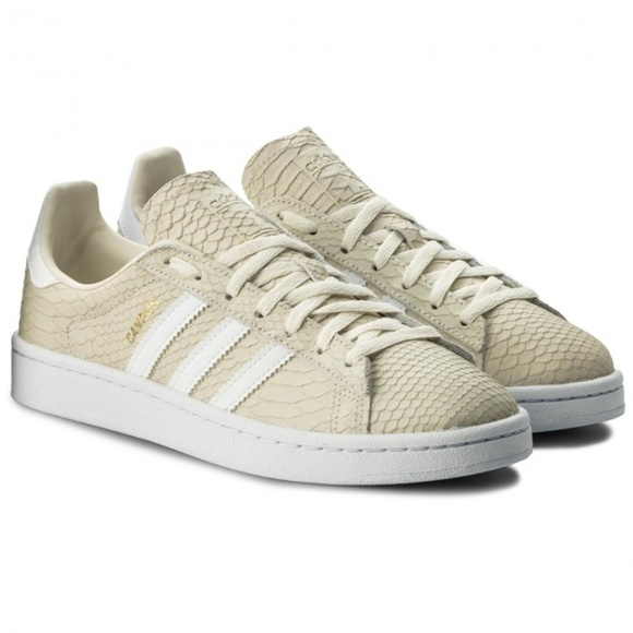 New Adidas Campus Reptile Texture Pale Yellow 6.5 5bdf2ad86
